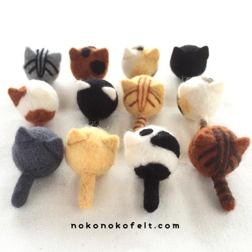 まるねこ まんまることり のこのこ 羊毛フェルト